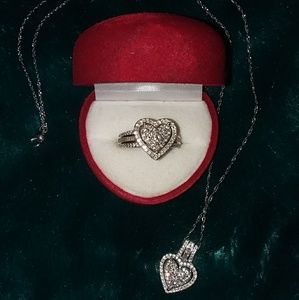 Affinity Heart Diamond Ring & Necklace
